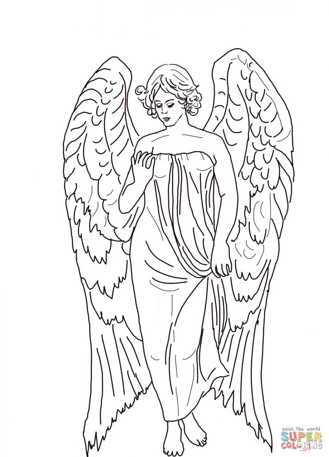 Angel Visits Joseph Coloring Page Angel Visits Mary Coloring Sheet Free Mandalas Pages For Adults