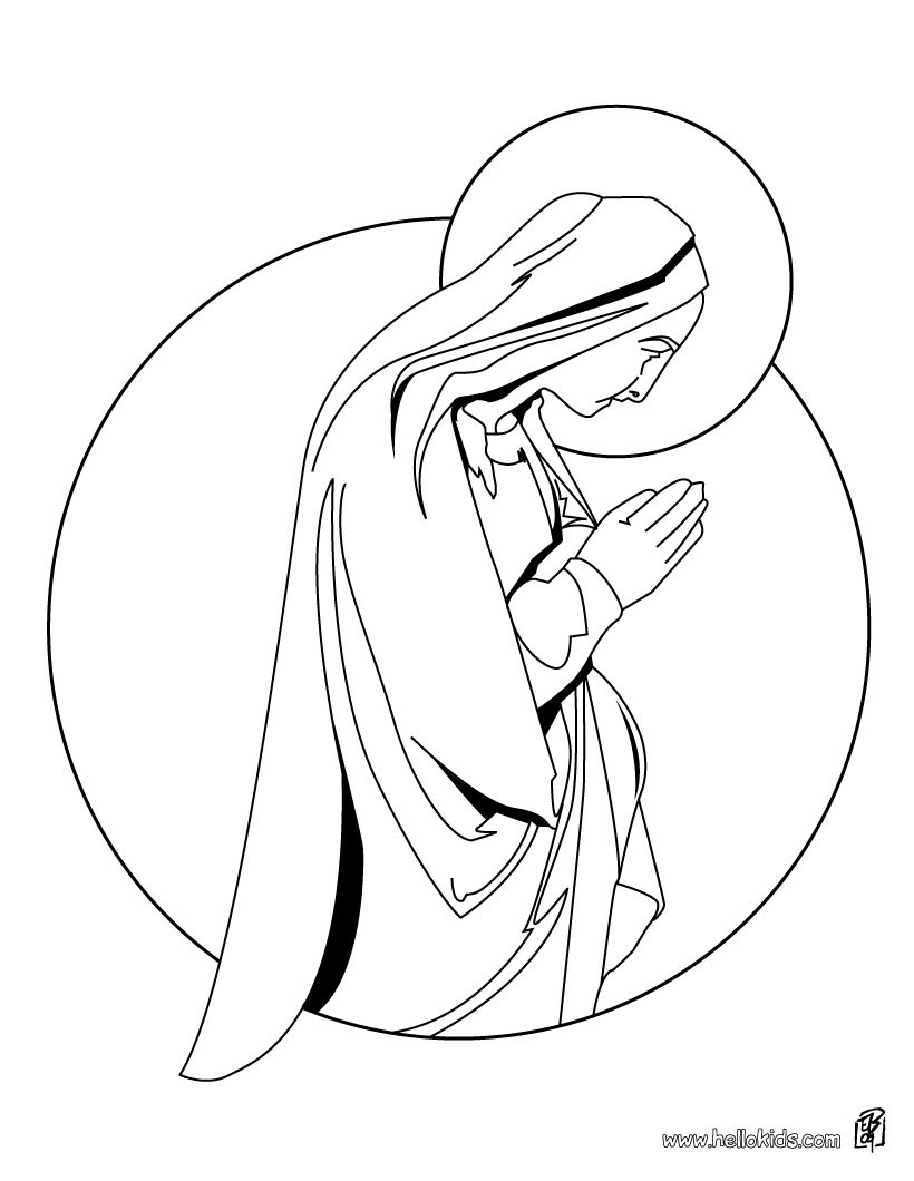 Angel Visits Joseph Coloring Page Mary Coloring Pages At Getdrawings Free For Personal Use Mary