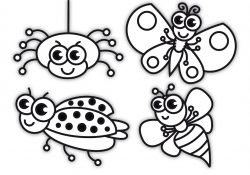 Bug Coloring Pages For Kids Coloring For Kids With Insects Bugs Coloring Pages For Children