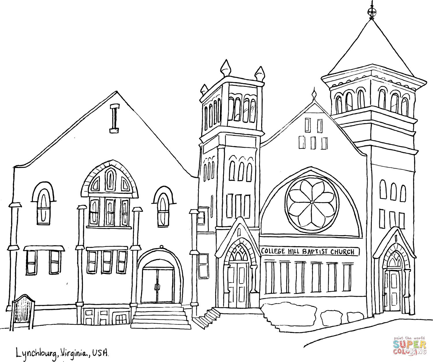 Building Coloring Page Coloring Ideas Building Coloring Sheets College Hill Baptist