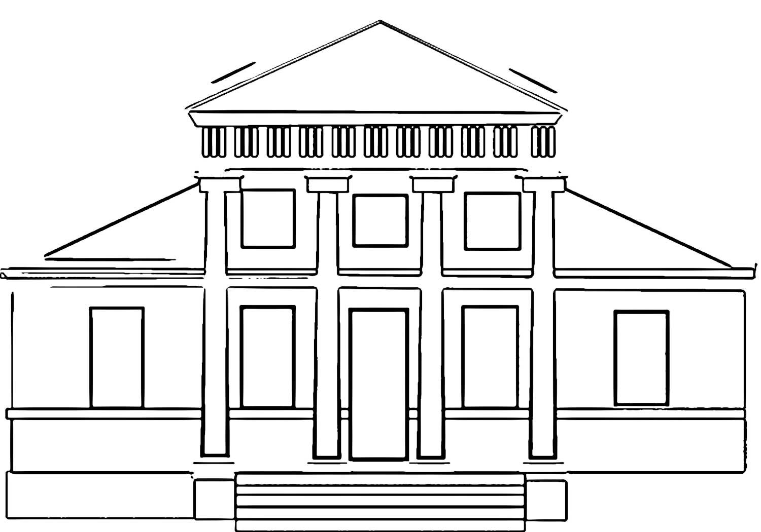 Building Coloring Page Free Printable Building H School Coloring Page 08i Wecoloring