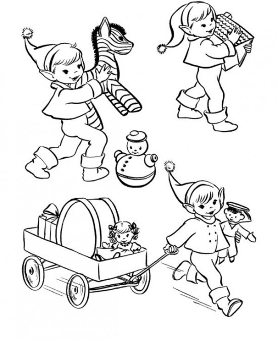 Christmas Elf Coloring Pages Christmas Elf Coloring Pages Printable Christmas Coloring Pages Of