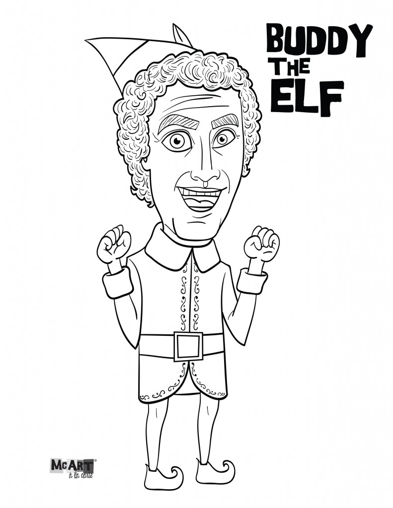 Christmas Elf Coloring Pages Christmas Elf On The Shelf Coloring Pages At Getdrawings Free