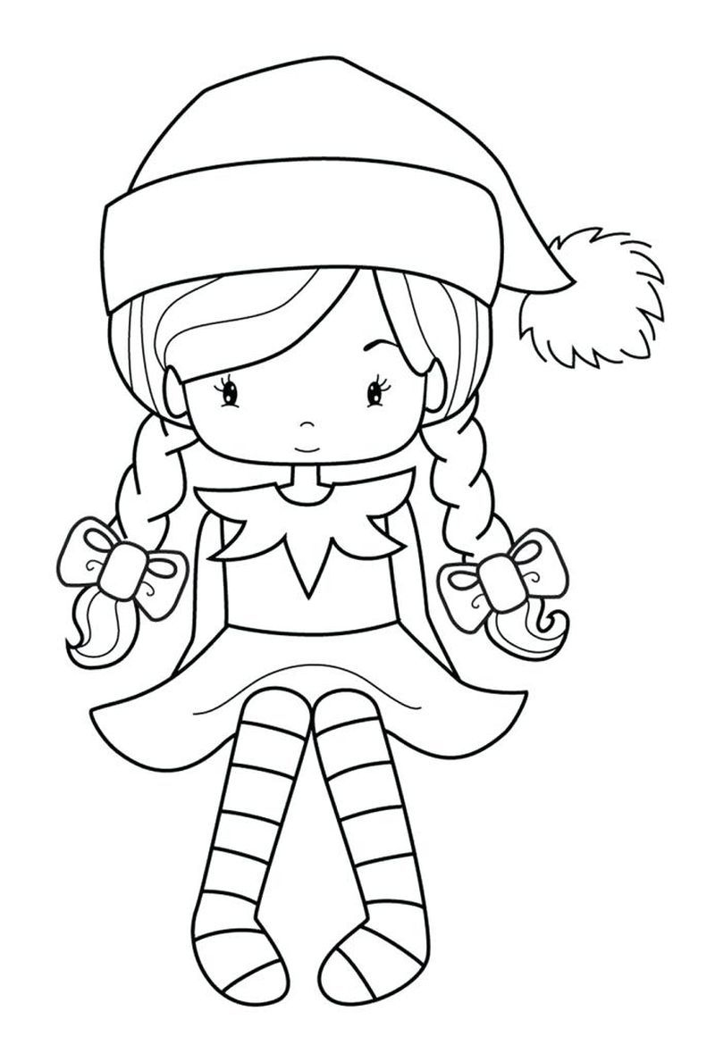 Christmas Elf Coloring Pages Coloring Ideas Elf Coloring Pages Printable Ideas Fantasy