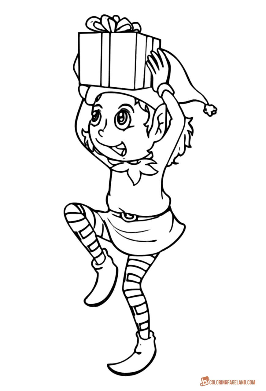 Christmas Elf Coloring Pages Elf Coloring Pages Incredible Free Printable Collection