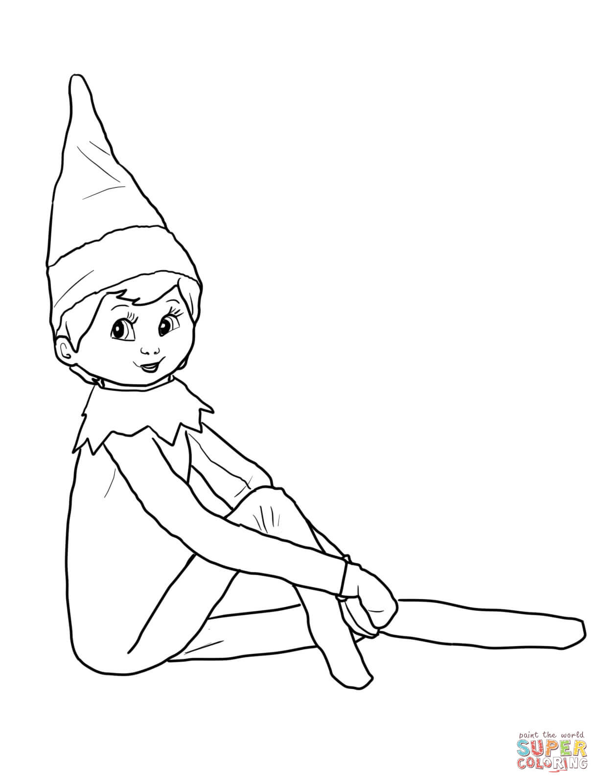 Christmas Elf Coloring Pages Elf On The Shelf Coloring Pages Free Coloring Pages