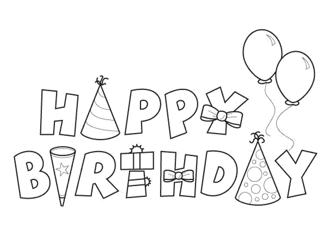 Coloring Pages For Birthday 27 Birthday Coloring Pages Collections Free Coloring Pages