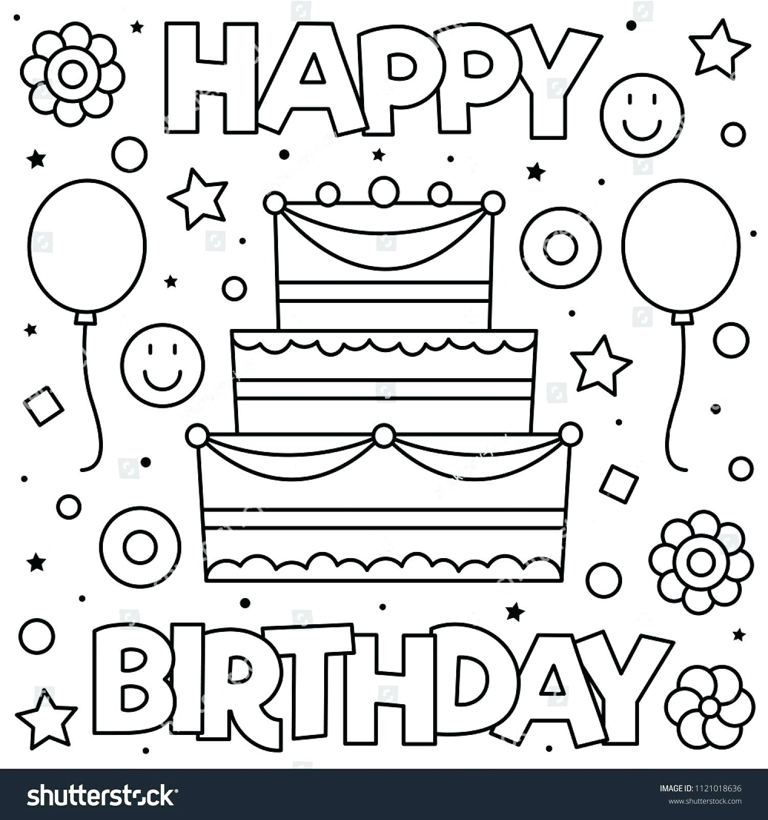 Coloring Pages For Birthday 4 Year Old Birthday Coloring Pages Regionpaperco