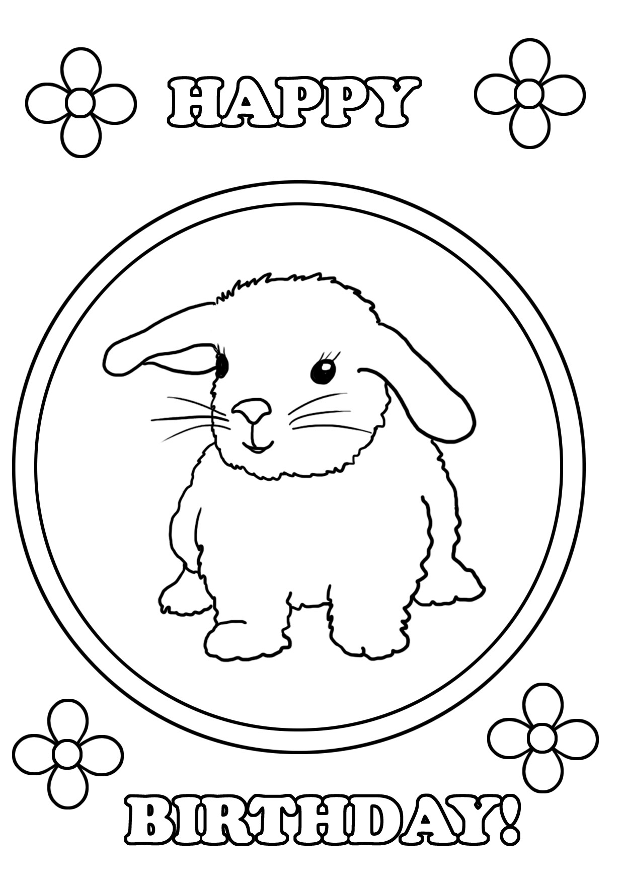 Coloring Pages For Birthday Birthday Coloring Pages