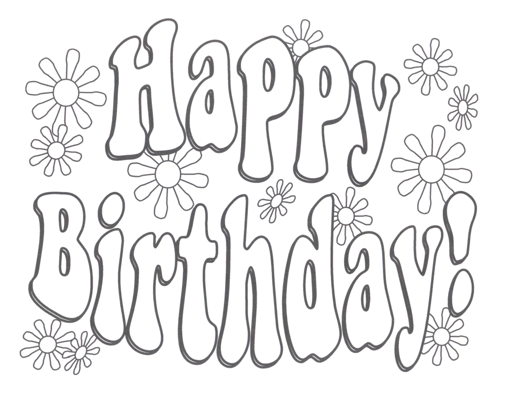Coloring Pages For Birthday Coloring Books Printable Birthday Coloring Pages Happy Free