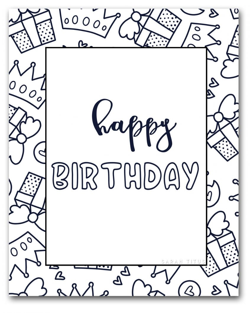 Coloring Pages For Birthday Coloring Freele Happy Birthday Coloring Pages For Mom And Kids