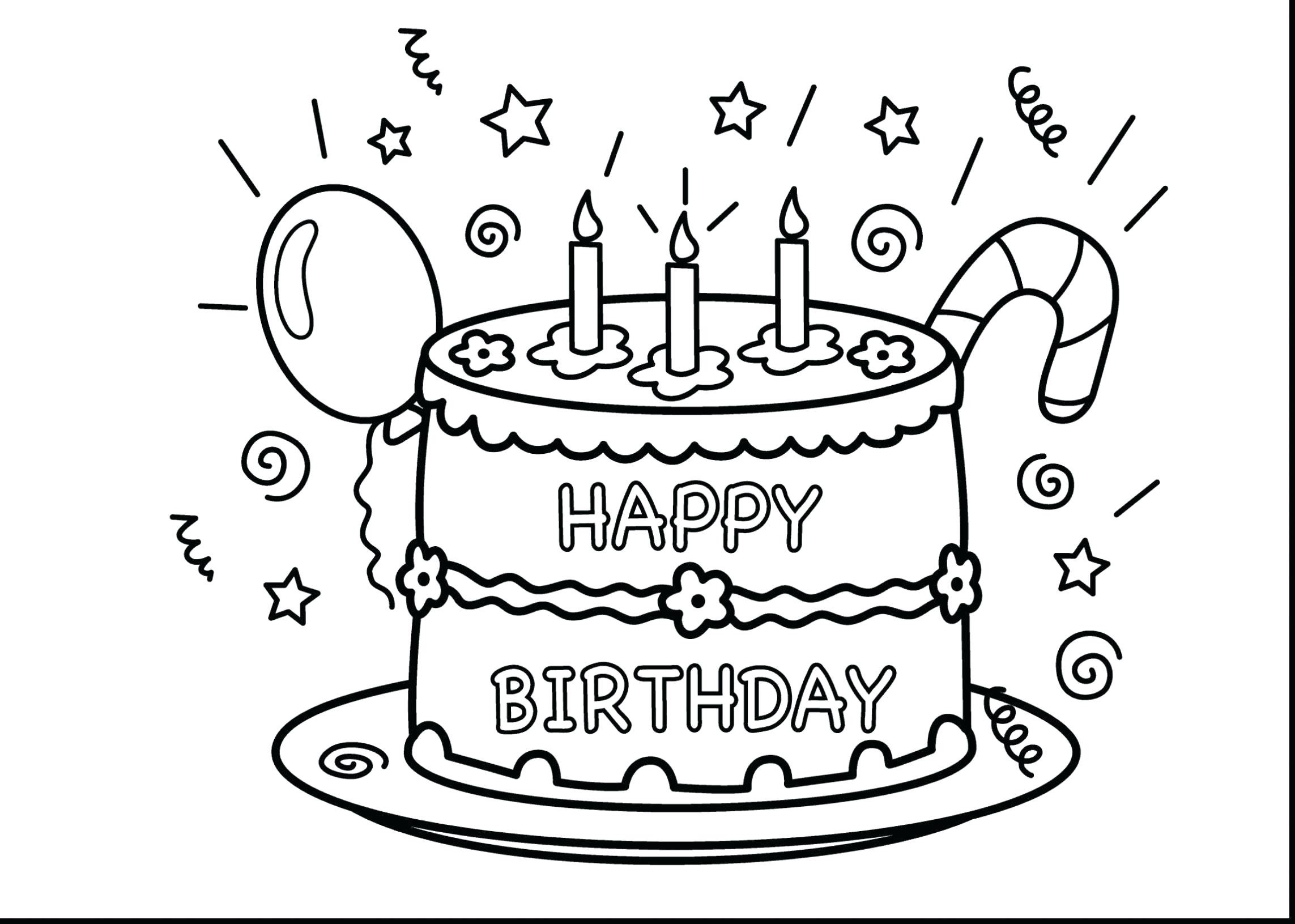 Coloring Pages For Birthday Coloring Pages Cake Coloring Book Birthday Printable Pages New
