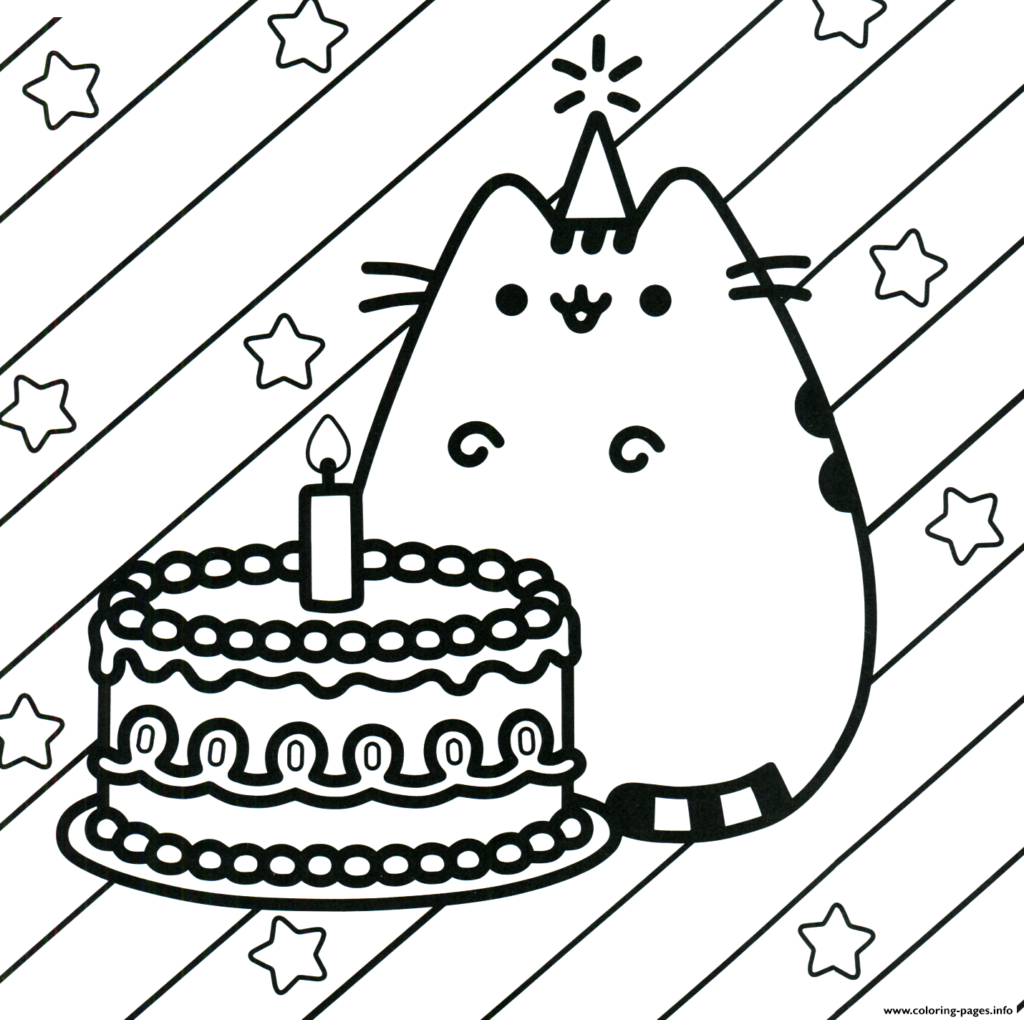 Coloring Pages For Birthday Coloring Printable Birthday Coloring Pages Photo Inspirations