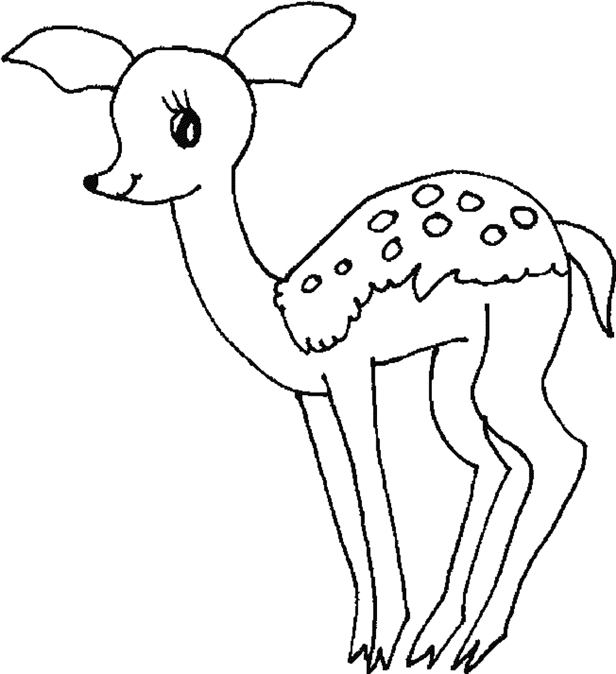 Deer Coloring Pages Easy Deer Coloring Pages Printable Coloring Page For Kids