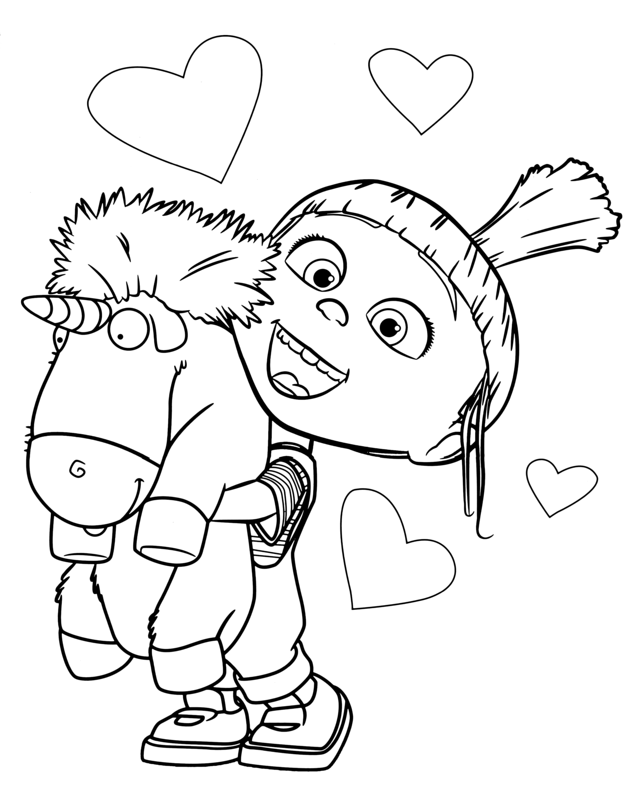 Despicable Coloring Pages Despicable Me Unicorn Coloring Pages