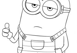 Despicable Coloring Pages Minion From Despicable Me 3 Coloring Page Free Printable Coloring