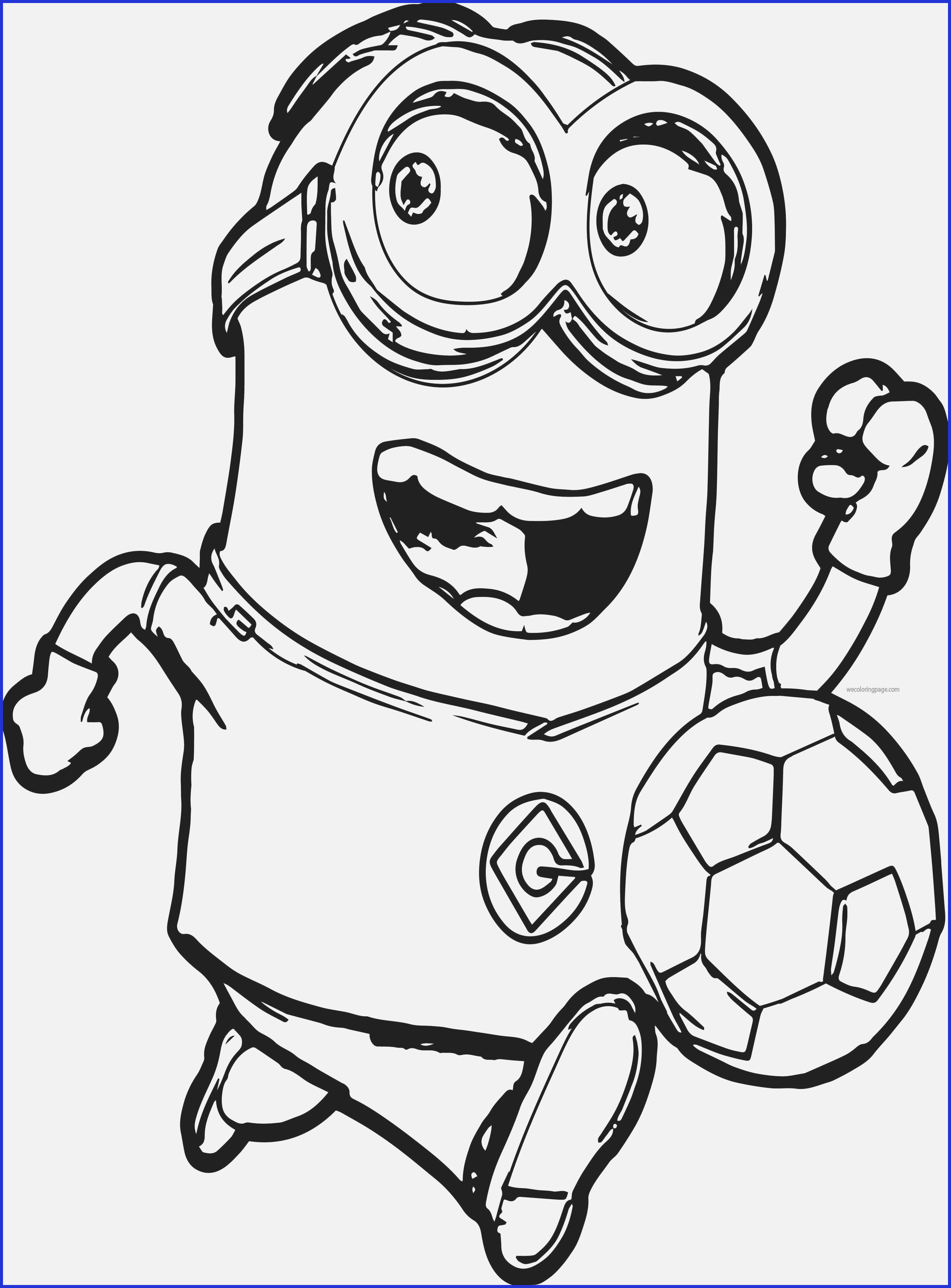 Despicable Coloring Pages Printable Despicable Me Coloring Pages Minion Soccer Player Coloring