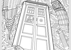 Doctor Who Coloring Page Doctor Who Wibbly Wobbly Timey Wimey Coloring Pages Printables