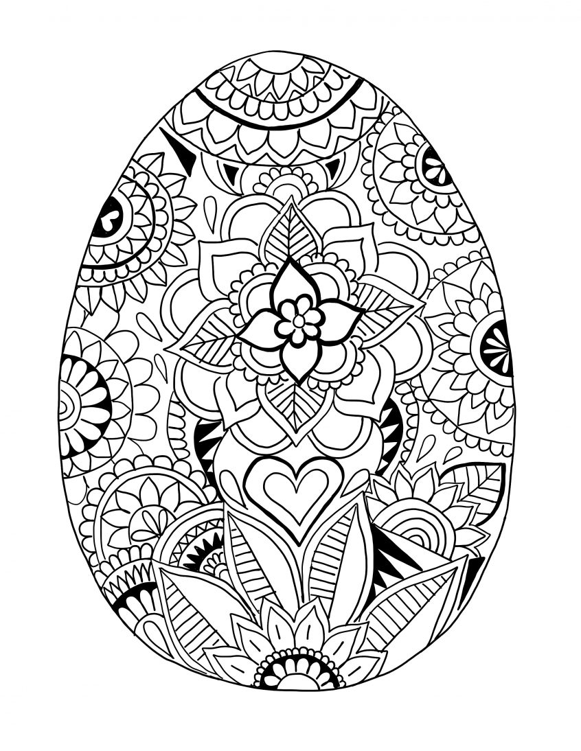 Easter Egg Coloring Page Coloring Detailed Coloring Sheets Photo Inspirations Easter Egg