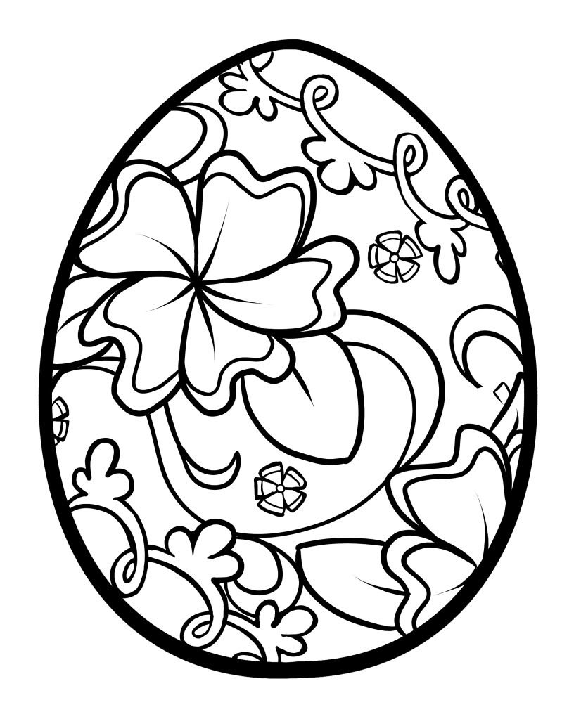 Easter Egg Coloring Page Coloring Pages Fourish Easter Egg Coloringages Best For