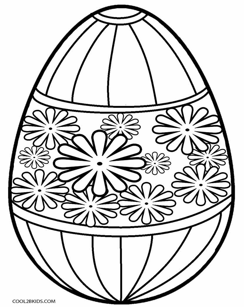 Easter Egg Coloring Page Printable Easter Egg Coloring Pages For Kids Cool2bkids