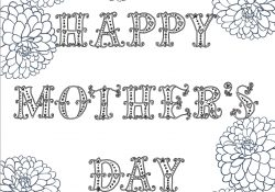 Free Mother's Day Coloring Pages Free Printable Mothers Day Coloring Pages 4 Designs