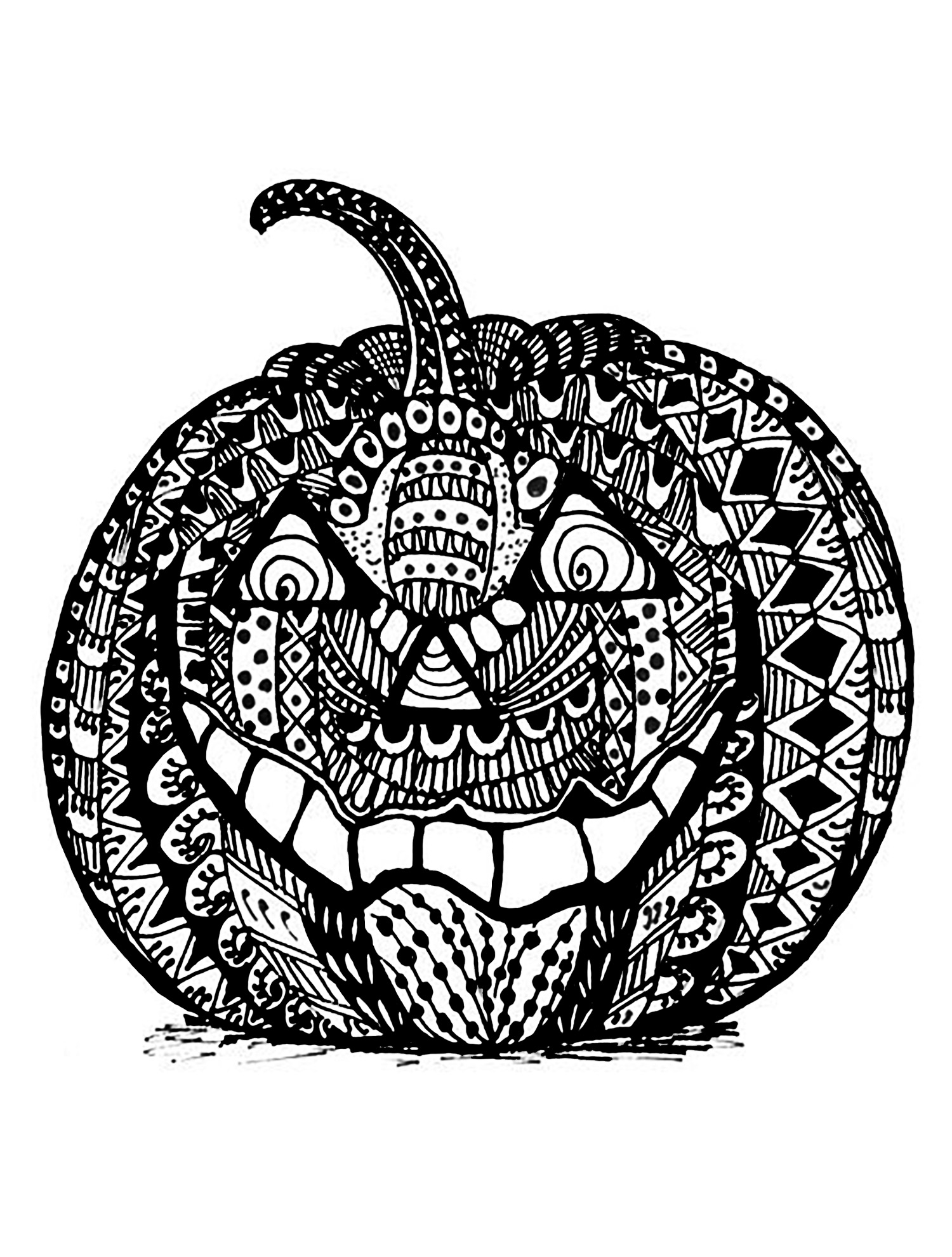 Halloween Pumpkin Coloring Pages Printables Coloring Books 49 Pumpkin Coloring Pages For Adults Image