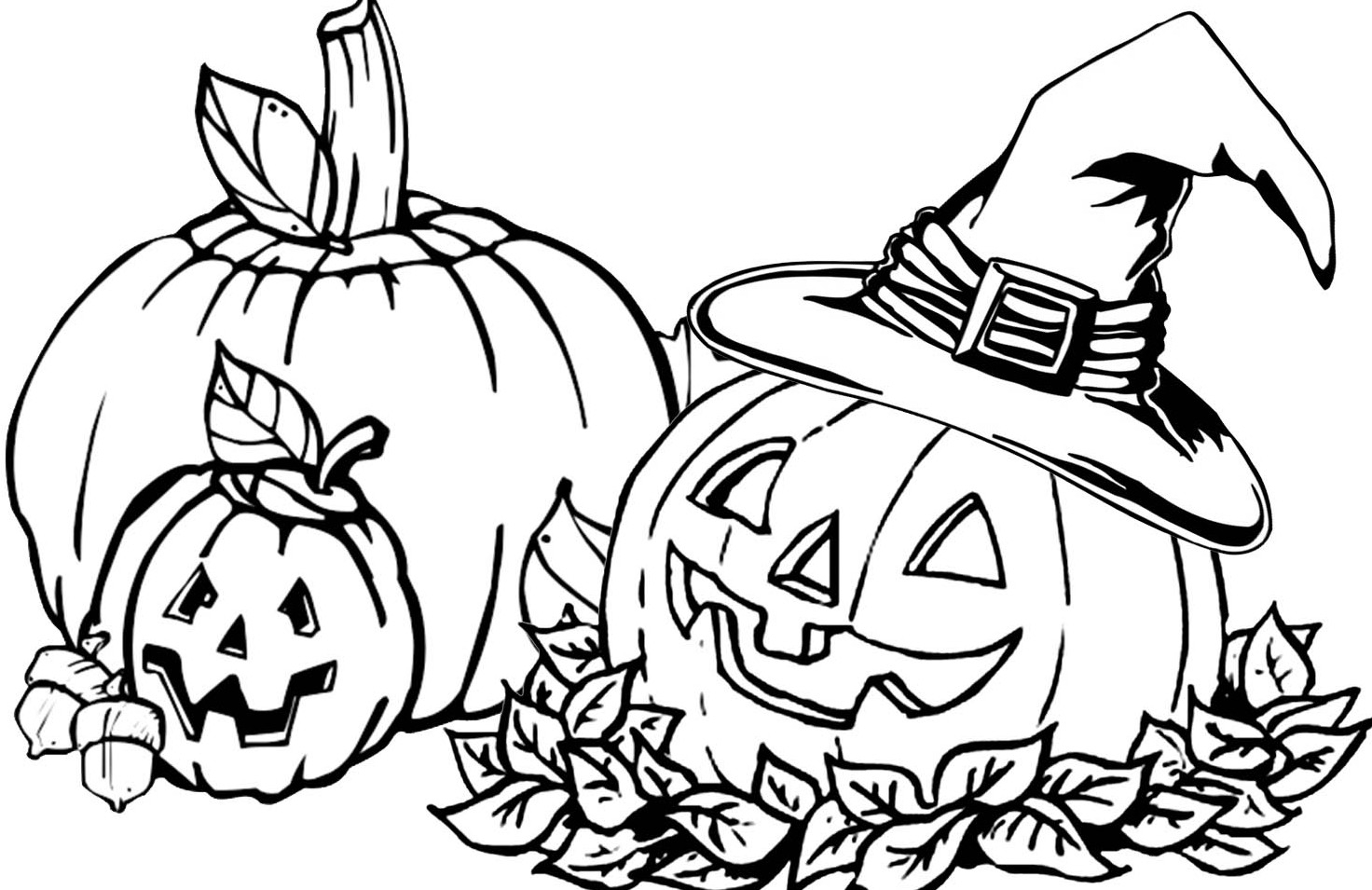 Halloween Pumpkin Coloring Pages Printables Coloring Pages Halloween Fall Pumpkin Coloring Full Size Of Color
