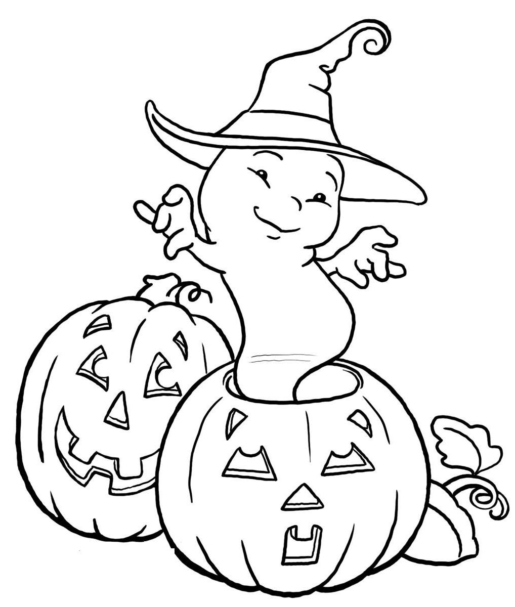 Halloween Pumpkin Coloring Pages Printables Halloween Ghost And Pumpkin Coloring Pages Kids Hallowen Coloring