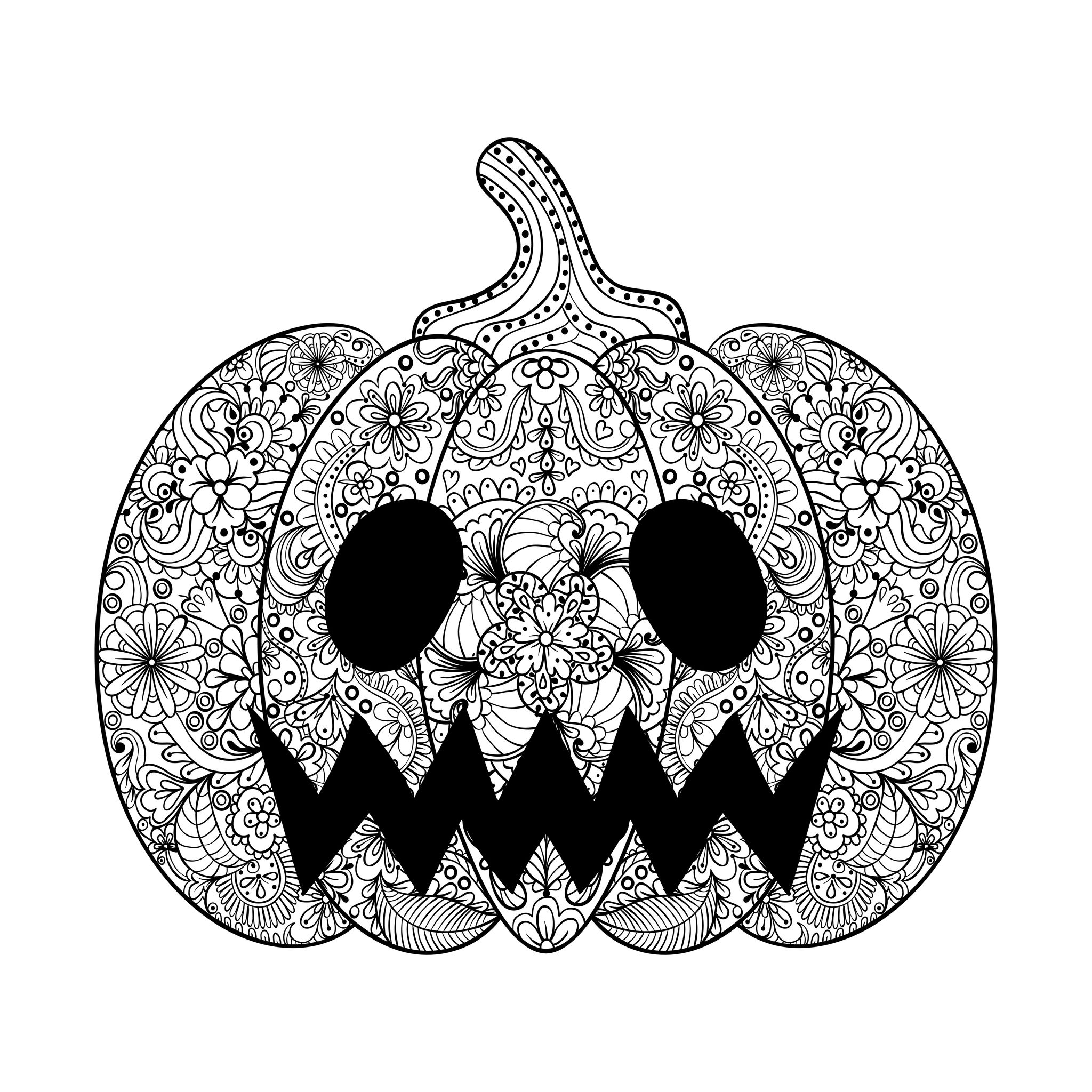 Halloween Pumpkin Coloring Pages Printables Halloween Scary Pumpkin Halloween Adult Coloring Pages