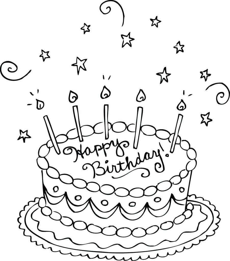 Happy Birthday Coloring Pages For Friends Free Printable Coloring Pages Birthday Cake Highendpaperco
