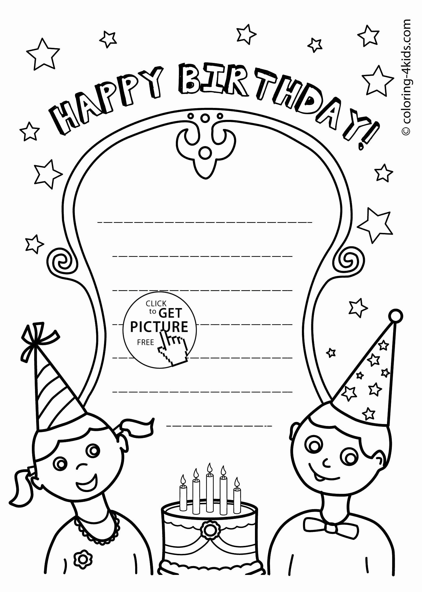 Happy Birthday Coloring Pages For Friends Free Printable Happy Birthday Cards For Friends Luxury Birthday Card