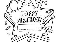 Happy Birthday Coloring Pages To Print Coloring Pages Free Printable Happy Birthday Coloring Pages For