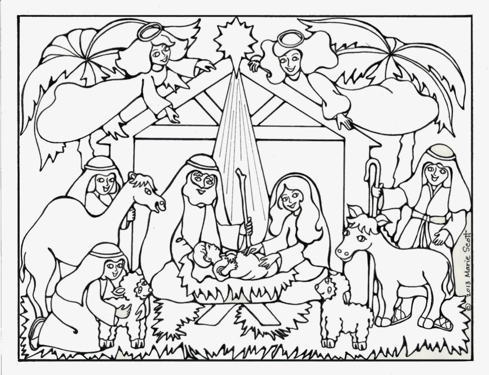 Jesus Christmas Coloring Pages Coloring Pages Christmas Nativity Coloring Pages For Adults To