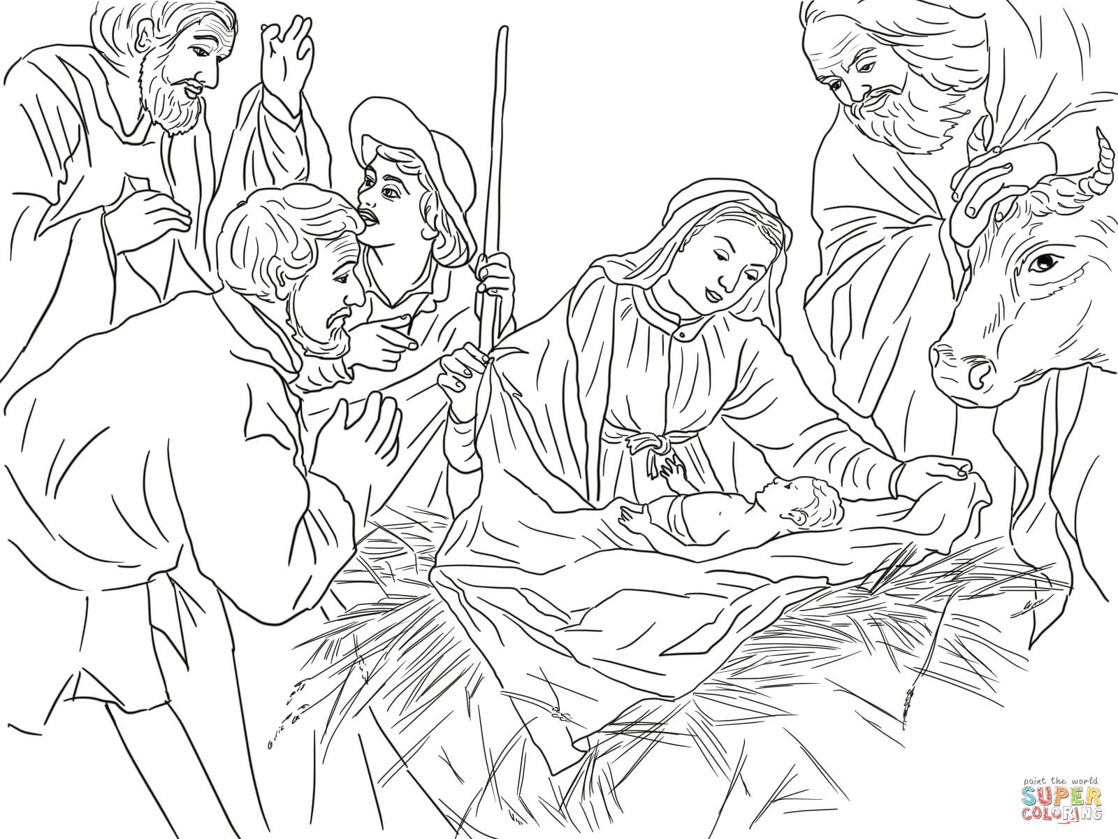Jesus Christmas Coloring Pages Coloring Pages Of Jesus In The Manger At Getdrawings Free For