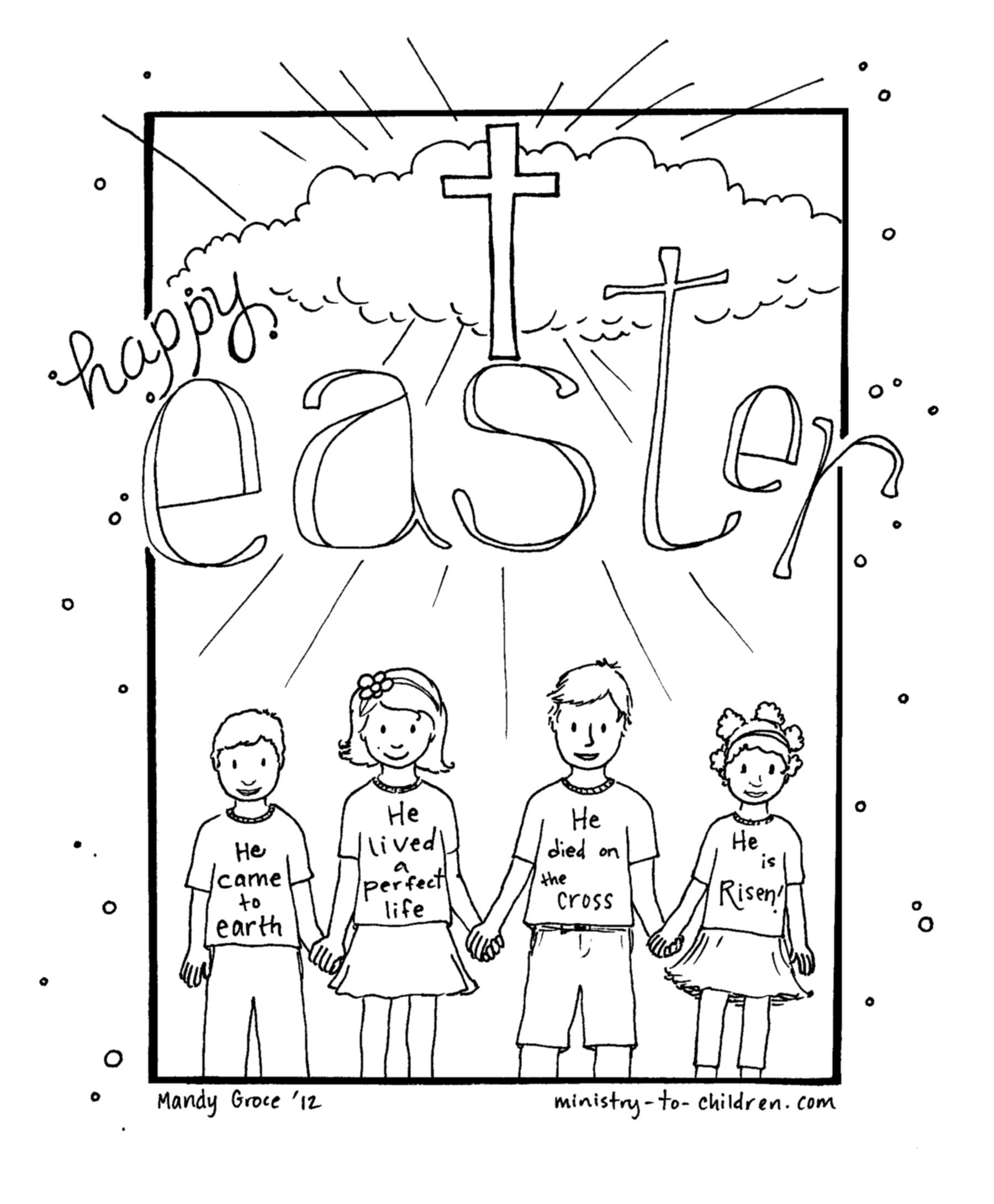 Jesus Easter Coloring Pages Printable Christian Easter Coloring Pages Pathtalk