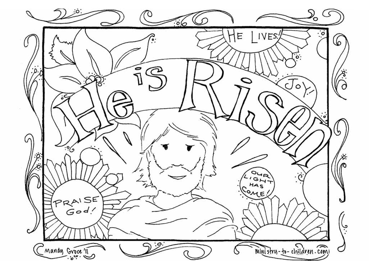 Jesus Easter Coloring Pages Printable Coloring Resurrection Coloring Pages For Preschoolersant Lovely
