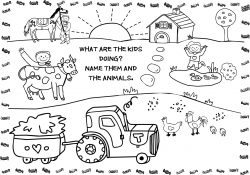 Kids Farm Coloring Pages Free Printable Farm Animal Coloring Pages For Kids