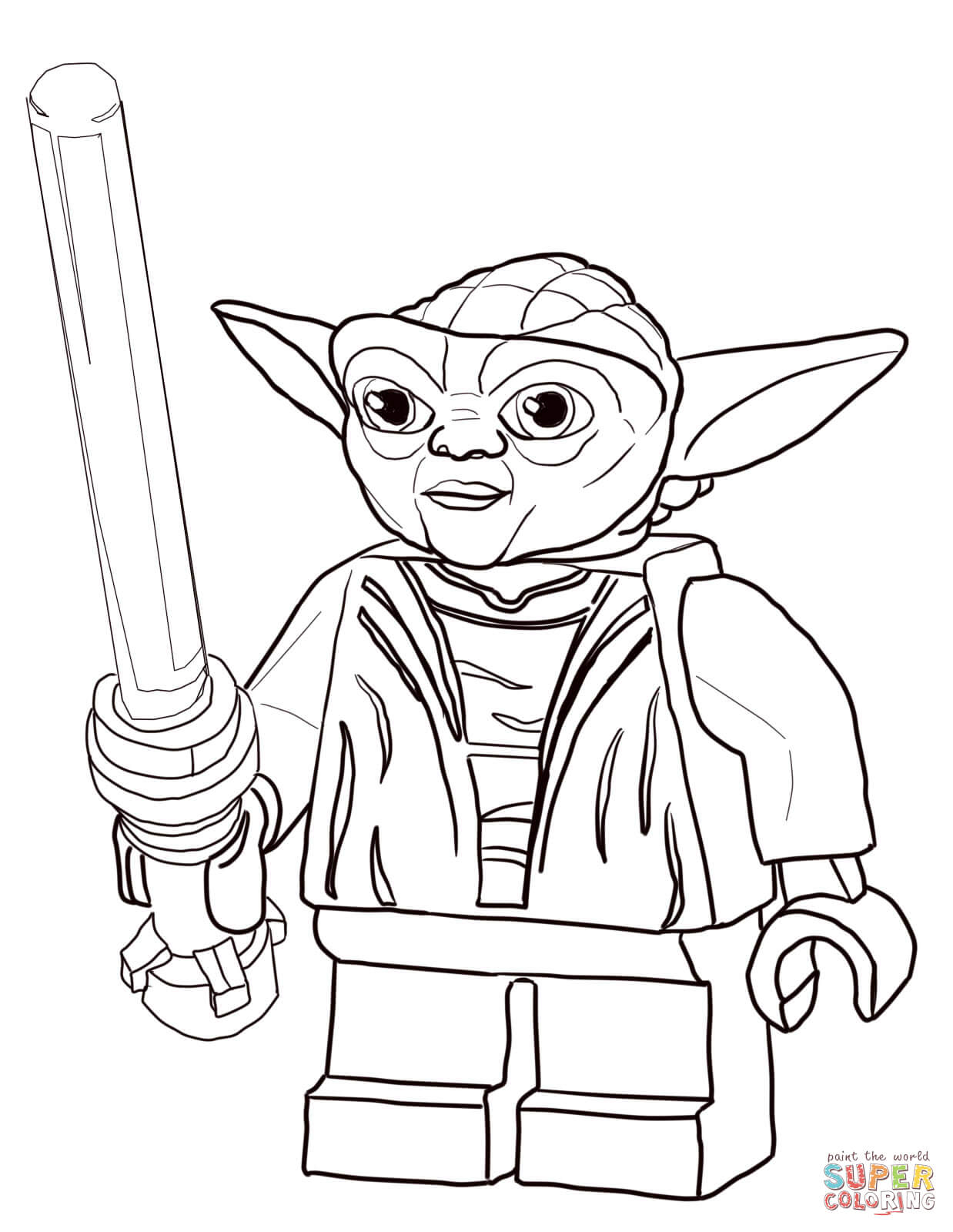 Lego Coloring Pages Star Wars Lego Star Wars Master Yoda Coloring Page Free Printable Coloring Pages