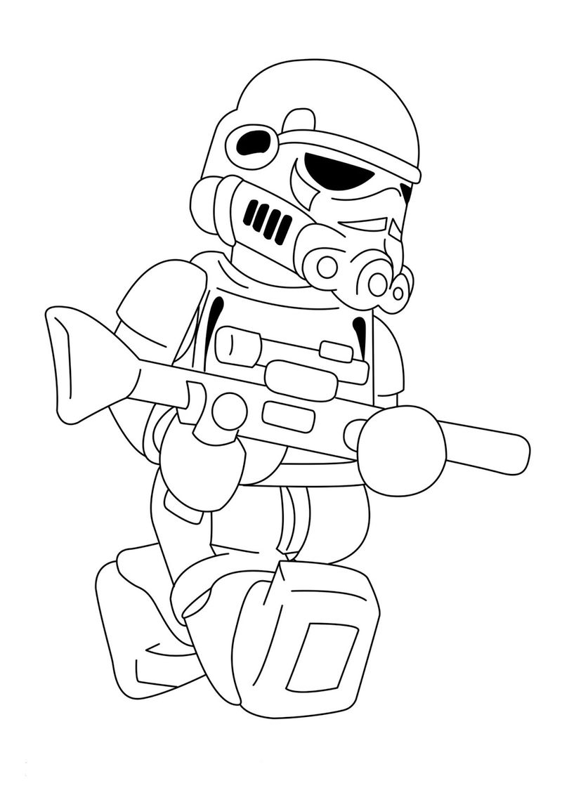 Lego Coloring Pages Star Wars Lego Storm Trooper Star Wars Coloring Pages Free Coloring Pages