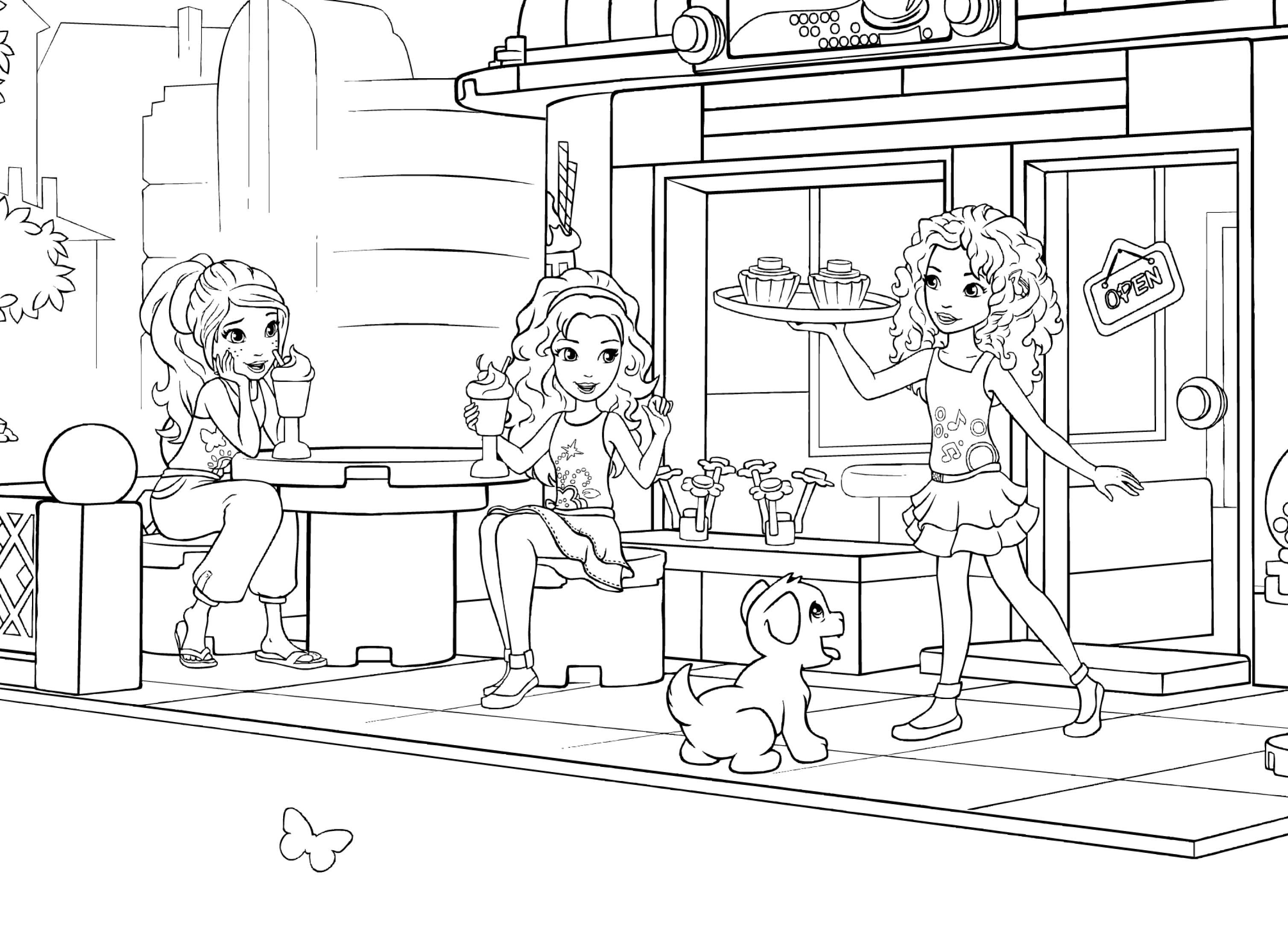 Lego Friends Printable Coloring Pages Coloring Ideas Lego Friends Coloring Pages To Printovely Birthday