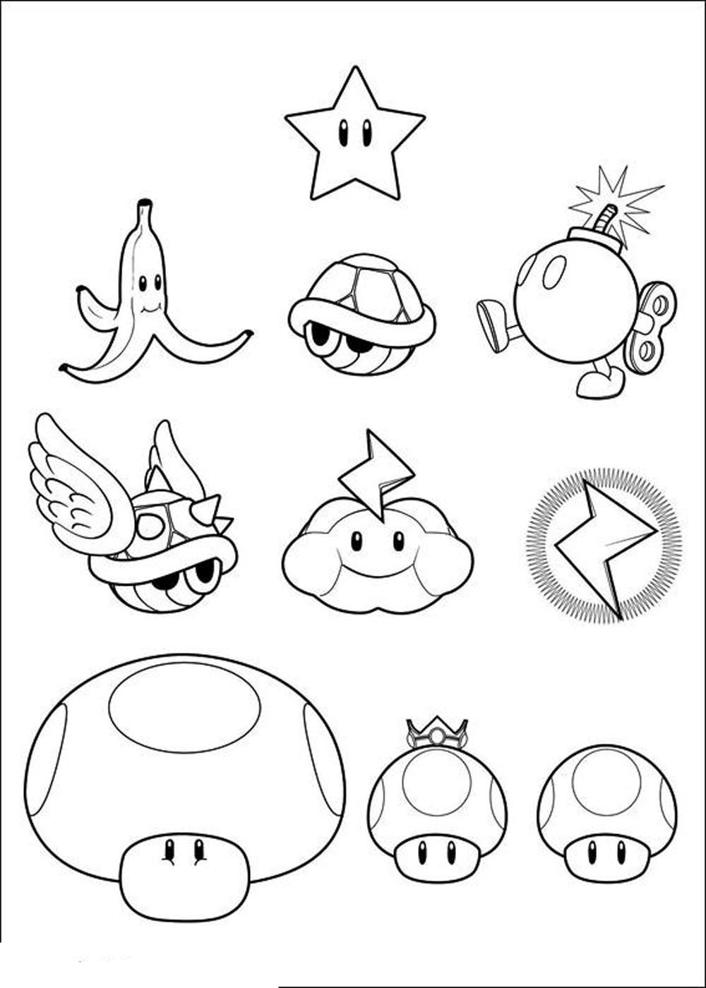 Mario Coloring Pages To Print 23 Printable Mario Coloring Pages Pictures Free Coloring Pages
