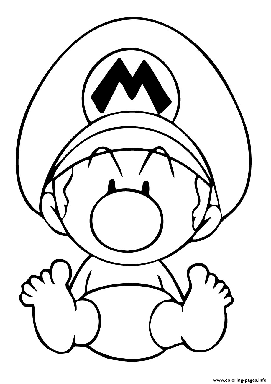 Mario Coloring Pages To Print Ba Mario Cute Coloring Pages Printable