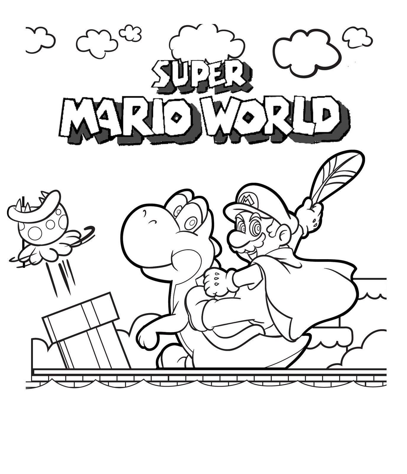 Mario Coloring Pages To Print Free Printable Mario Coloring Pages For Kids