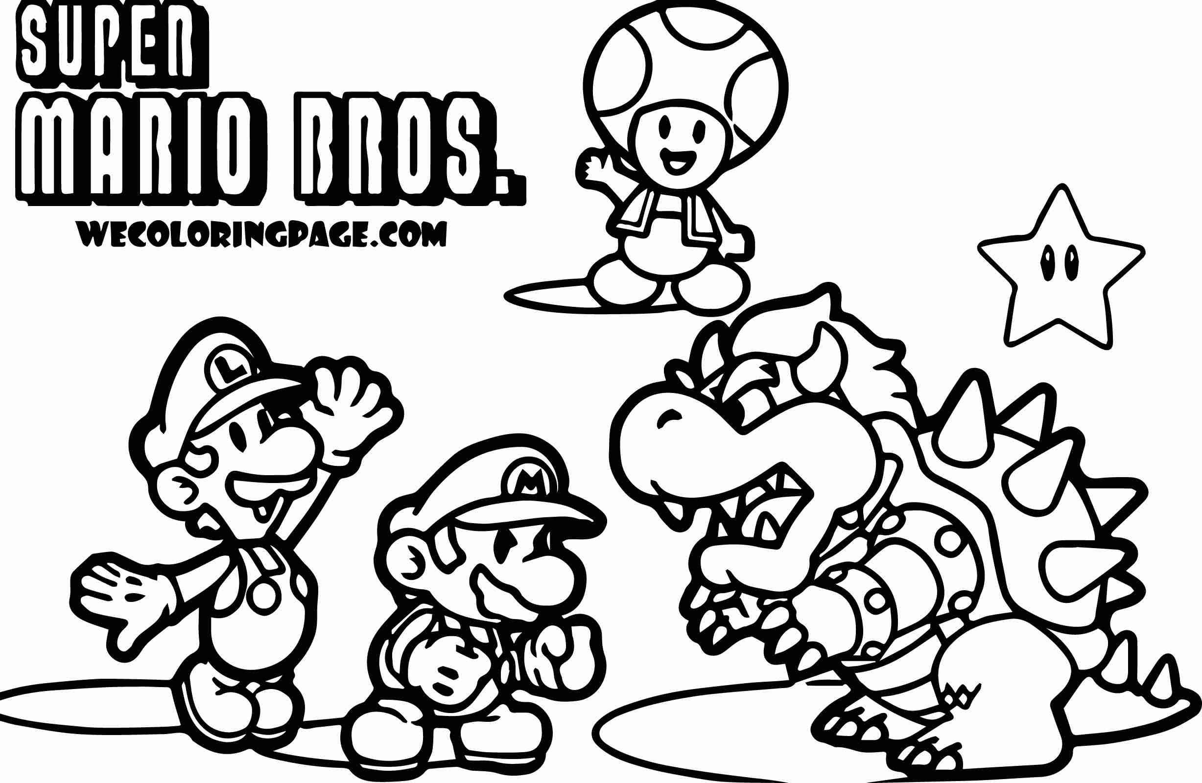 Mario Coloring Pages To Print Super Mario Coloring Pages Colouring In Humorous Complete Bros Free