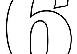 Number 6 Coloring Page Number 6 Coloring Page Free Printable Coloring Pages