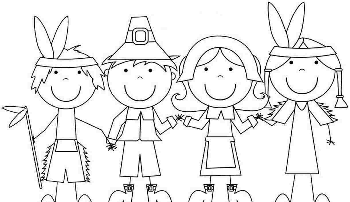 Pilgrim Coloring Pages Pilgrim Indian Coloring Pages Colorin9