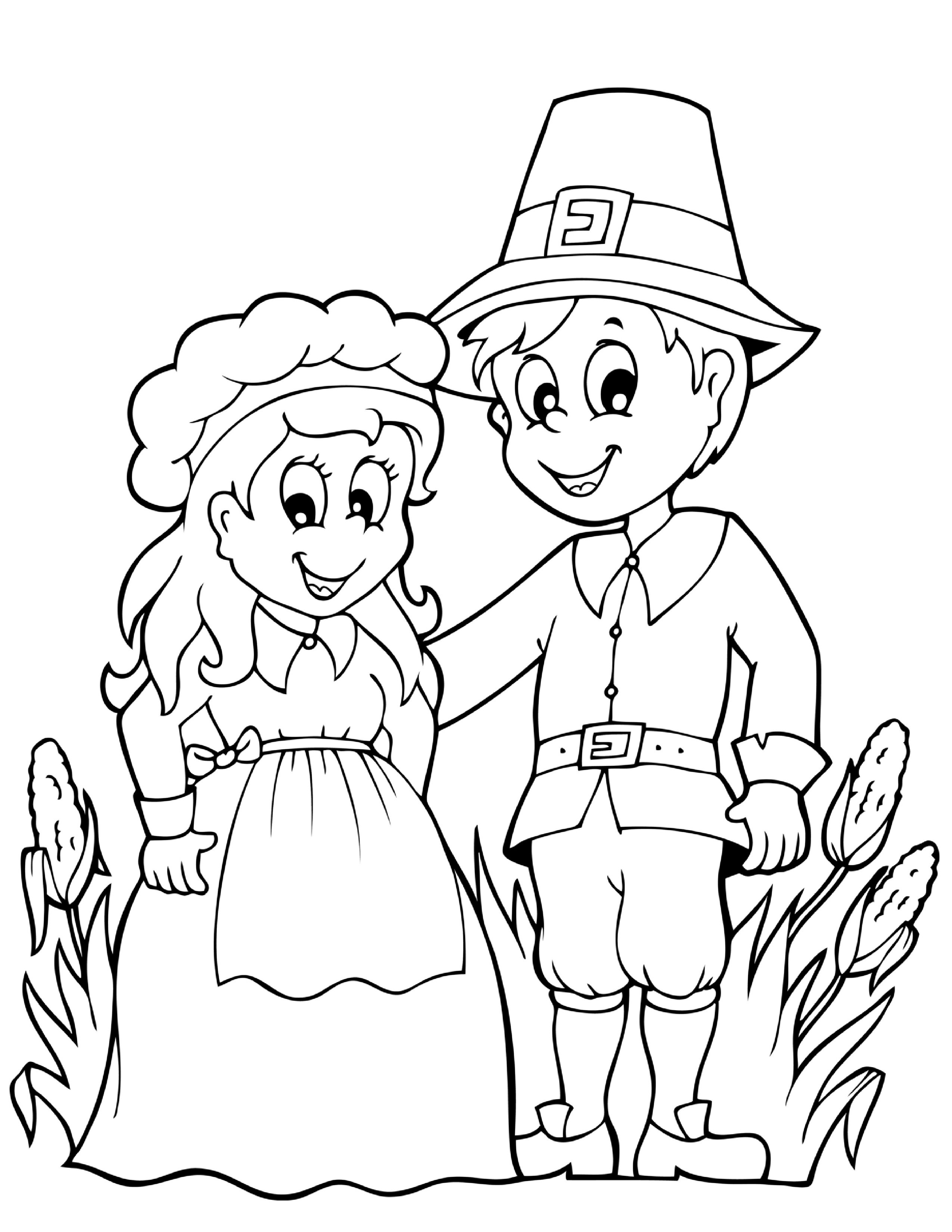 Pilgrim Indian Coloring Pages Collection Thanksgiving Indian Coloring Pages Pictures