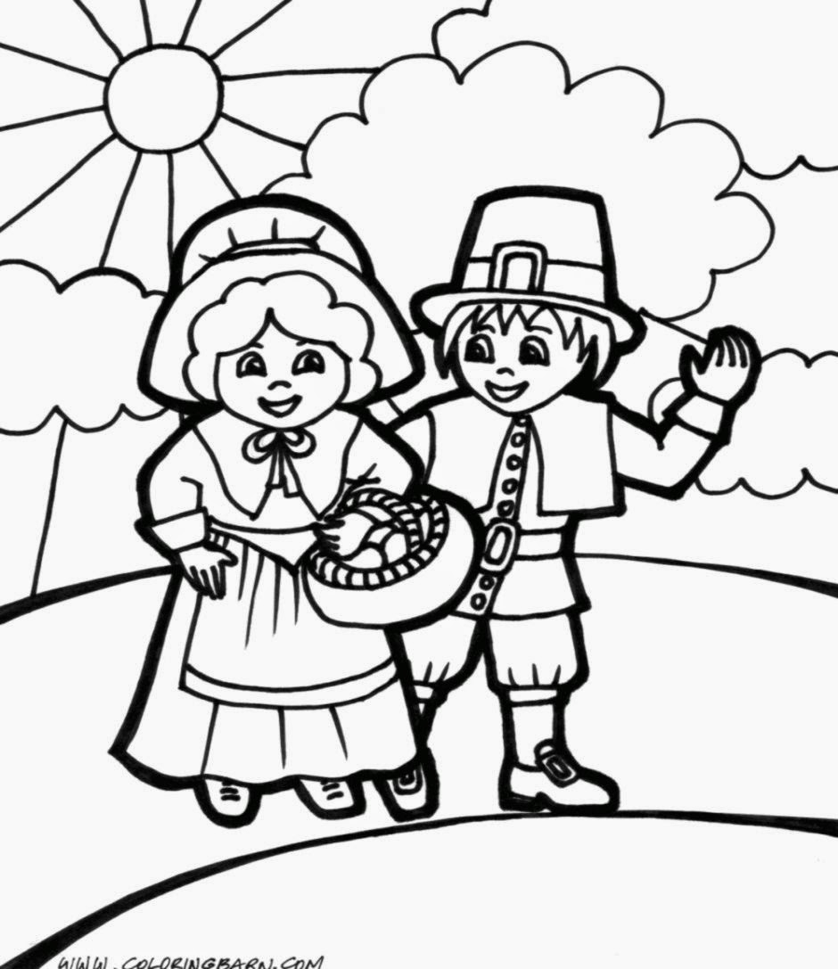 Pilgrim Indian Coloring Pages Pilgrim And Indian Coloring Pages Thanksgiving
