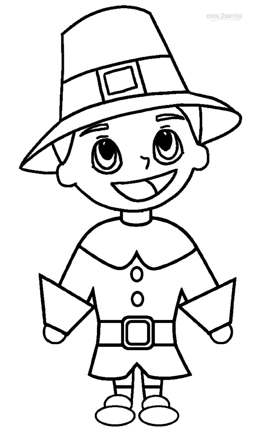 Pilgrim Indian Coloring Pages Printable Pilgrims Coloring Pages For Kids Cool2bkids